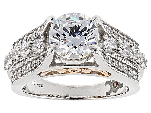Photo of Michael O' Connor For Bella Luce®4.52ctw Diamond Simulant Rhodium Over Silver&Eterno™Rose Ring - Size 11