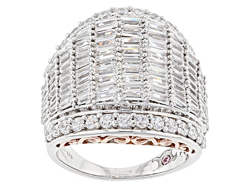 Photo of Michael O' Connor For Bella Luce® Diamond Simulant Rhodium Over Silver & Eterno™ Rose Ring - Size 5