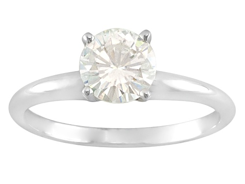 Photo of Moissanite Fire® 1.20ct Diamond Equivalent Weight 14k White Gold Solitaire Ring - Size 11