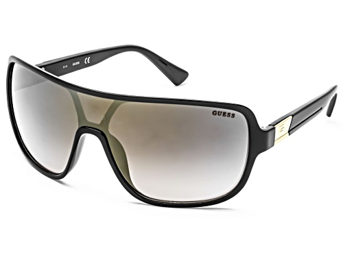 Guess GF5068 01G Shiny Black / Brown Mirror Sunglasses