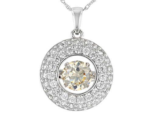 Photo of 1.00ct Lab Created Strontium Titanate And .71ctw White Zircon 10k White Gold Pendant With Chain
