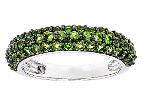 Photo of 1.43ctw Round Russian Chrome Diopside Sterling Silver Band Ring - Size 7