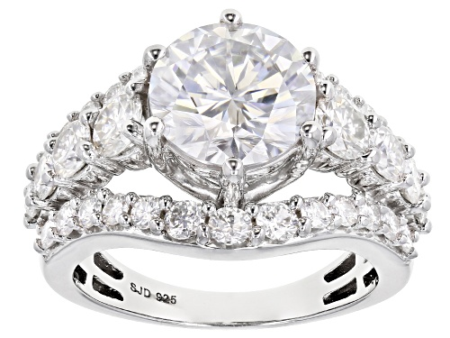 Photo of MOISSANITE FIRE(R) 5.16CTW DEW ROUND PLATINEVE(R) RING - Size 8