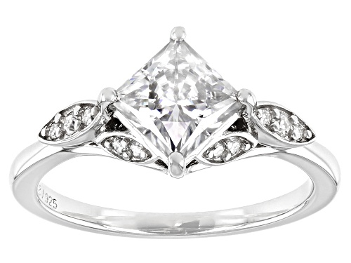 Photo of MOISSANITE FIRE(R) 1.46CTW DEW SQUARE BRILLIANT CUT AND ROUND PLATINEVE(R) RING - Size 8