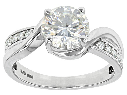 Photo of Moissanite Fire® 2.10ctw Diamond Equivalent Weight Round Platineve™ Ring - Size 9