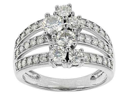 Photo of Moissanite Fire® 1.64ctw Diamond Equivalent Weight Round Platineve™ Ring - Size 11
