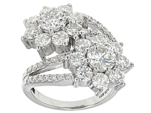Photo of Moissanite Fire® 4.70ctw Diamond Equivalent Weight Round Platineve™ Ring - Size 9
