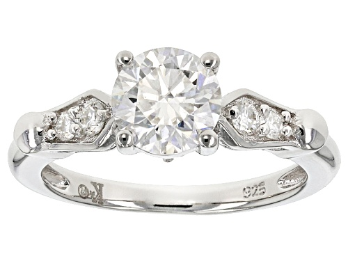 Photo of Moissanite Fire® 1.36ctw Diamond Equivalent Weight Round Platineve™ Ring - Size 11