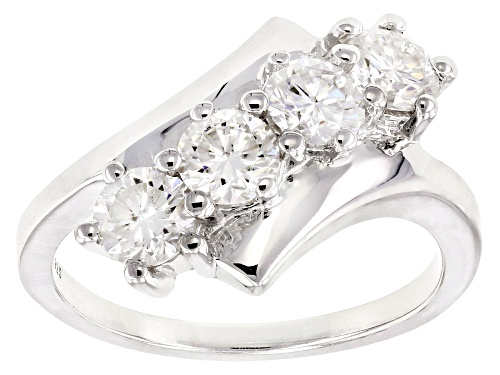 Photo of Moissanite Fire® 1.32ctw Diamond Equivalent Weight Round Platineve™ Ring - Size 6