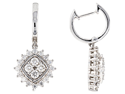 Photo of Moissanite Fire® 1.76ctw Diamond Equivalent Weight Round Platineve™ Earrings