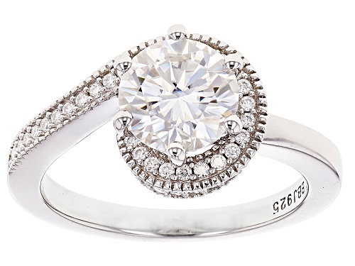 Photo of Moissanite Fire® 2.37ctw Diamond Equivalent Weight Round Platineve™ Ring - Size 7