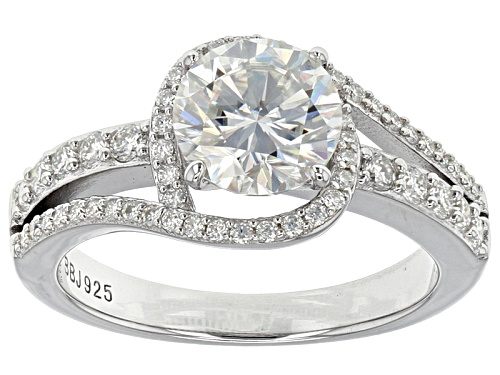 Photo of Moissanite Fire® 2.24ctw Diamond Equivalent Weight Round Platineve™ Ring - Size 11