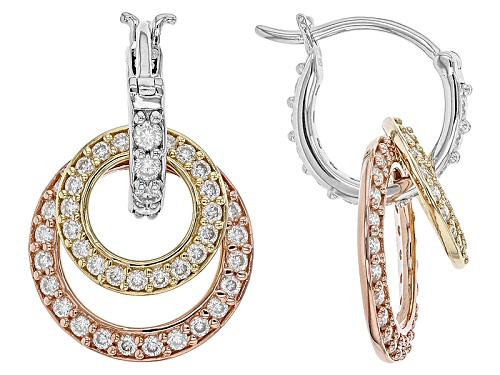 Photo of Moissanite Fire® 2.36ctw Dew Tri Tone Interchangeable Earring