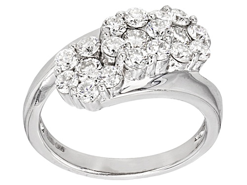 Photo of Moissanite Fire® 1.26ctw Diamond Equivalent Weight Round Platineve™ Ring - Size 11