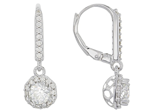 Photo of MOISSANITE FIRE® 1.44CTW DEW OCTAGON AND ROUND PLATINEVE™ EARRINGS