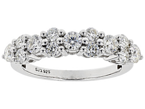 Photo of MOISSANITE FIRE® 1.13CTW DEW ROUND PLATINEVE™ RING - Size 5