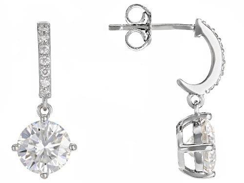 Photo of MOISSANITE FIRE® 2.54CTW DEW ROUND PLATINEVE™ EARRINGS
