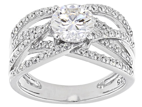 Photo of MOISSANITE FIRE® 1.84CTW DEW ROUND PLATINEVE™ RING - Size 10