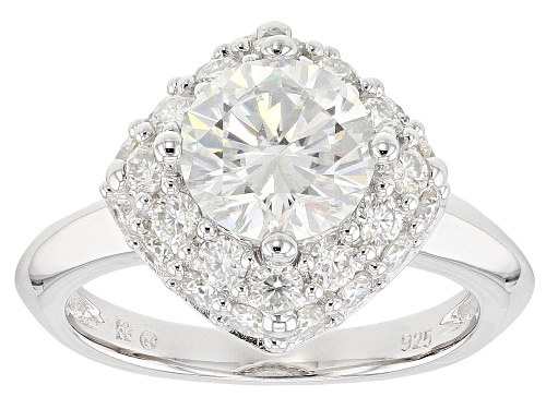 Photo of MOISSANITE FIRE® 3.30CTW DEW ROUND PLATINEVE™ RING - Size 8