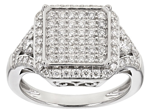 Photo of MOISSANITE FIRE® .92CTW DEW ROUND PLATINEVE® RING - Size 6