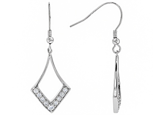 Photo of MOISSANITE FIRE® .68CTW DEW ROUND PLATINEVE® EARRINGS