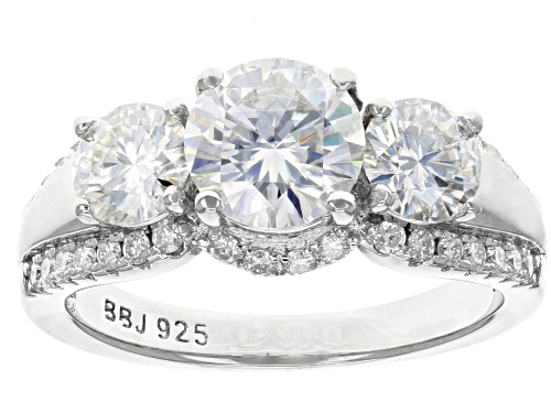 Photo of MOISSANITE FIRE® 2.56CTW DEW ROUND PLATINEVE® RING - Size 11
