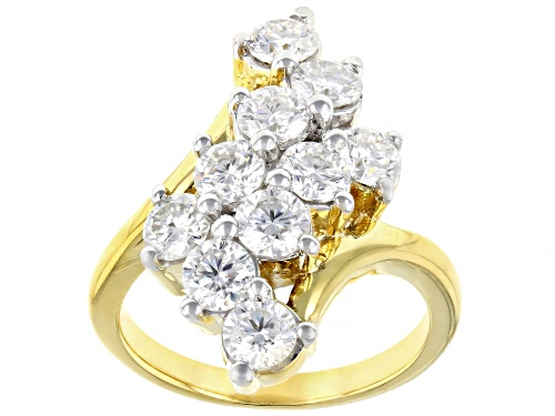 Photo of MOISSANITE FIRE® 2.30CTW DEW ROUND 14K YELLOW GOLD OVER STERLING SILVER RING - Size 6