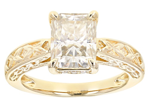 Photo of MOISSANITE FIRE® 2.76CTW DEW 14K YELLOW GOLD OVER STERLING SILVER RING - Size 9