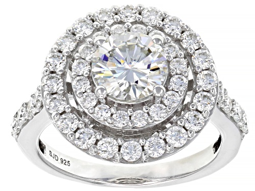 Photo of MOISSANITE FIRE® 2.36CTW DEW ROUND PLATINEVE® RING - Size 11