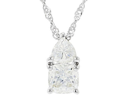 Photo of MOISSANITE FIRE(R) 1.50CTW DEW TRILLION AND CUSHION CUT PENDANT WITH CHAIN