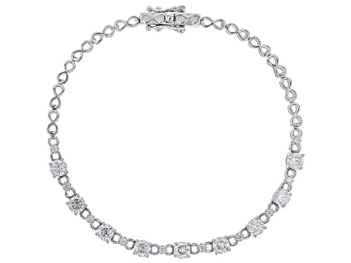 Photo of MOISSANITE FIRE(R) 2.27CTW DEW ROUND PLATINEVE(R) BRACELET - Size 8