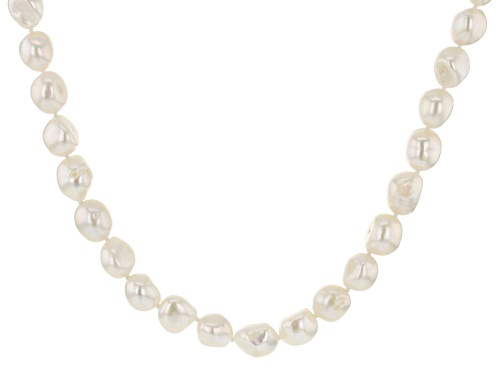 Photo of 10.5-11.5mm White Cultured Freshwater Pearl 36 Inch Endless Strand Necklace - Size 36