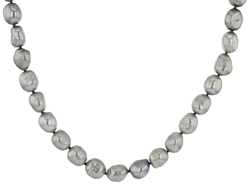 Photo of 10.5-11.5mm Silver Cultured Freshwater Pearl 36 Inch Endless Strand Necklace - Size 36