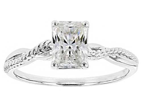 Photo of Moissanite Fire® 1.80ct Diamond Equivalent Weight Rectangular Radiant Cut Platineve™ Ring - Size 9