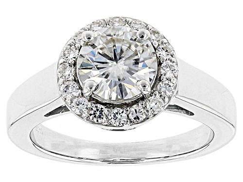 Photo of Moissanite Fire® 1.44ctw Diamond Equivalent Weight Round Platineve™ Ring - Size 11