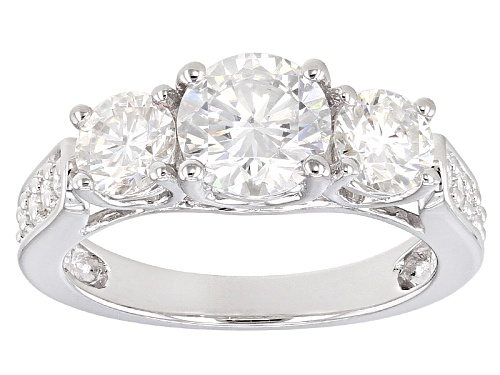 Photo of Moissanite Fire® 2.35ctw Dew Round Platineve™ Ring - Size 6
