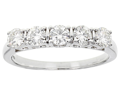 Photo of Moissanite Fire® 1.15ctw Dew Round Platineve™ Ring - Size 11