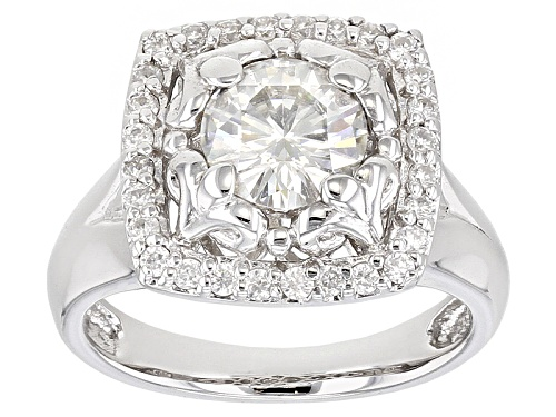 Photo of Moissanite Fire® 1.48ctw Diamond Equivalent Weight Round Platineve® Ring - Size 11