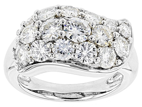 Photo of Moissanite Fire® 2.09ctw Diamond Equivalent Weight  Round Platineve™ Ring - Size 11