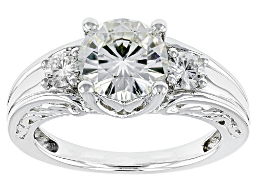 Photo of Moissanite Fire® 2.22ctw Dew Round Platineve™ Ring - Size 11