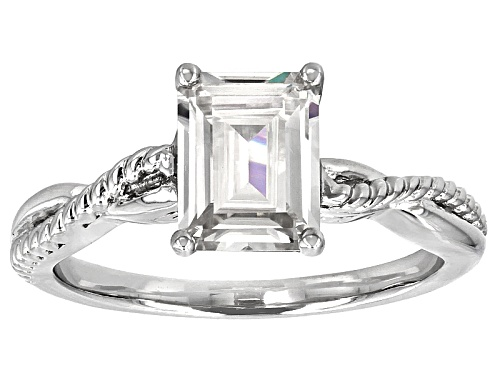 Photo of Moissanite Fire® 1.75ctw Diamond Equivalent Weight Emerald Cut Platineve™ Ring - Size 11