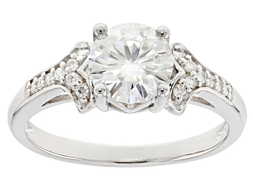 Photo of Moissanite Fire® 1.90ctw Diamond Equivalent Weight Round Platineve™ Ring - Size 8
