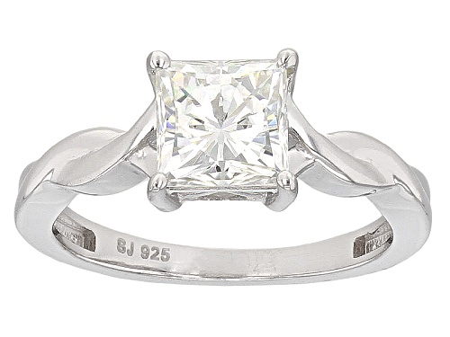 Photo of Moissanite Fire® 1.70ct Dew Square Brilliant Platineve™ Ring - Size 11