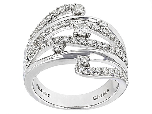 Photo of Moissanite Fire® 1.21ctw Diamond Equivalent Weight Round Platineve™ Ring - Size 6