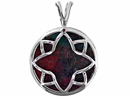 Photo of Aztec Style™ 30mm Round Cabochon Sonora Sunrise Sterling Silver Pendant
