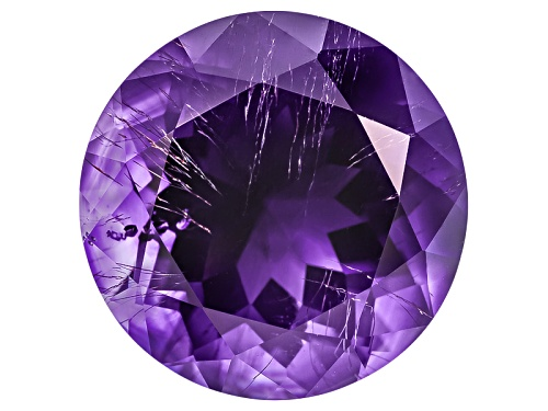 Photo of Moroccan amethyst with needles min 7.00ct 14mm round