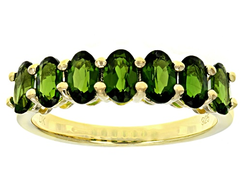 Photo of 1.43ctw Oval Russian Chrome Diopside 18k Yellow Gold Over Sterling Silver Band Ring - Size 9