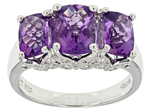 Photo of African Amethyst, 3.03ctw Sterling Silver Ring - Size 12