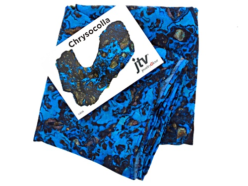 Photo of Chrysocolla Gemstone Print Chiffon Scarf Measures Approximately 18 Inches By 67 Inches
