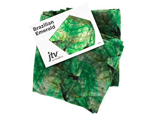 Photo of Brazilian Emerald Gemstone Print Chiffon Scarf Measures Approximately 18 Inches By 67 Inches